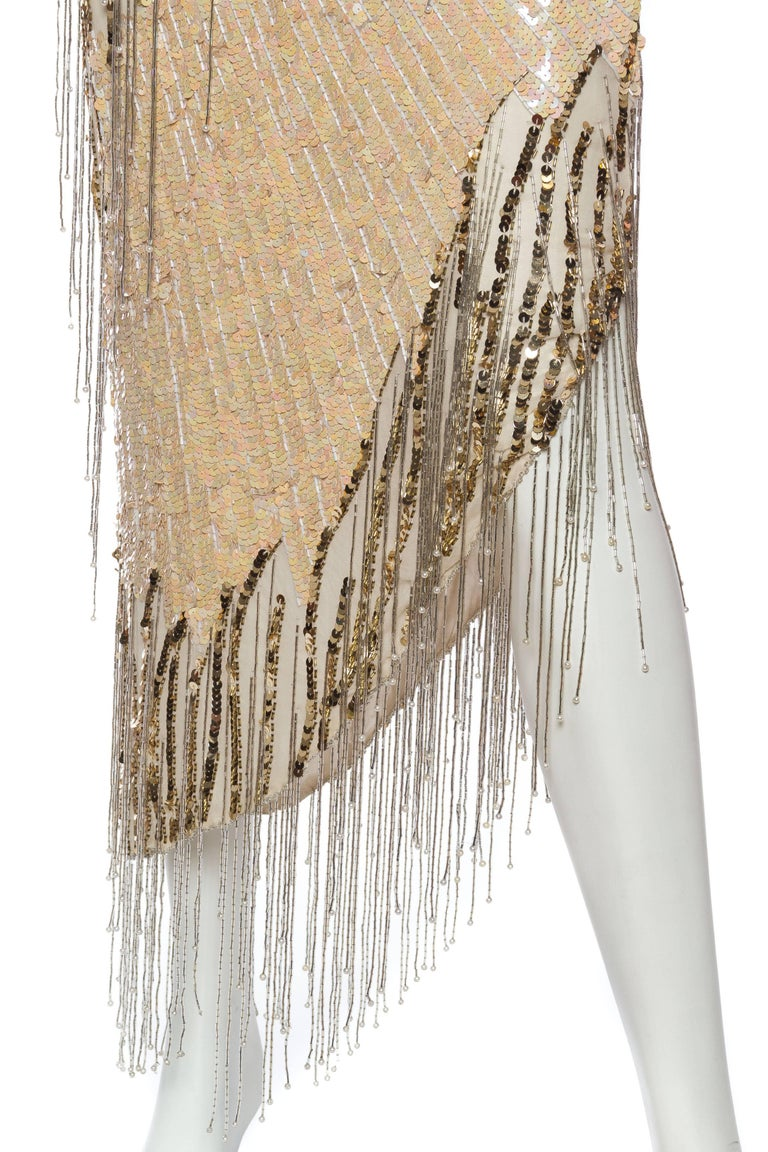 Bob Mackie Beaded Fringe Dress For Sale 4