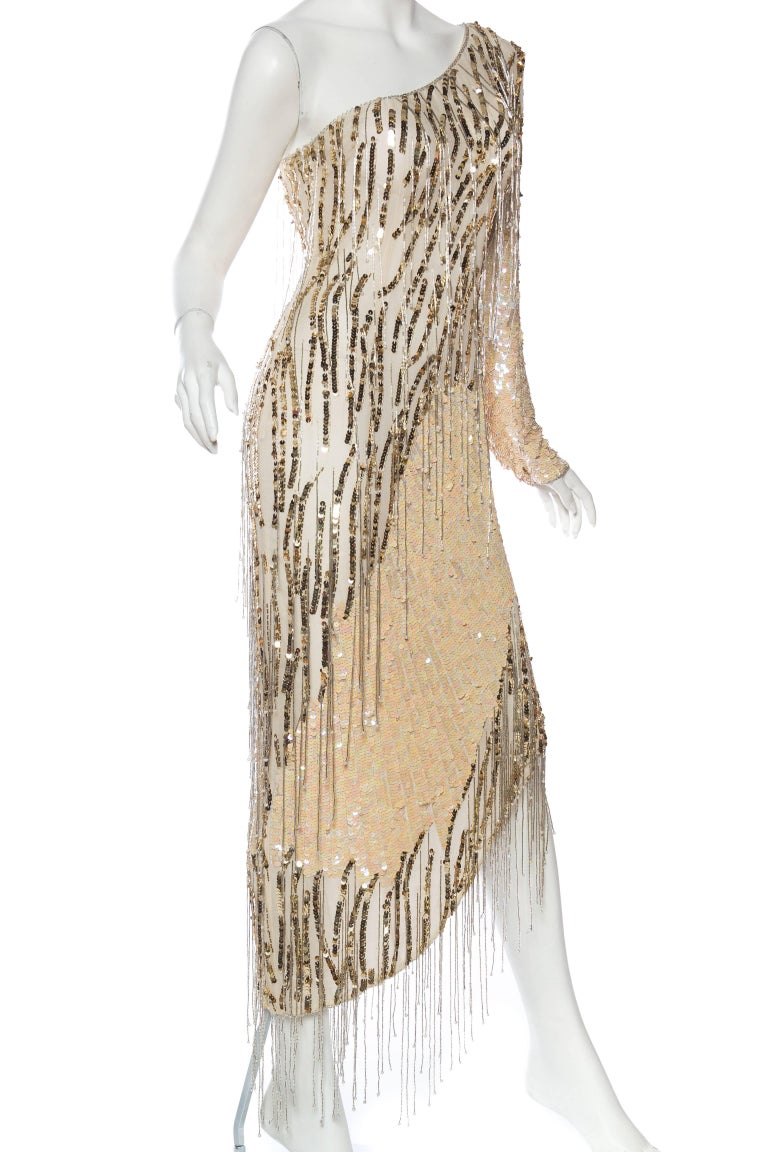 Women's Bob Mackie Beaded Fringe Dress For Sale