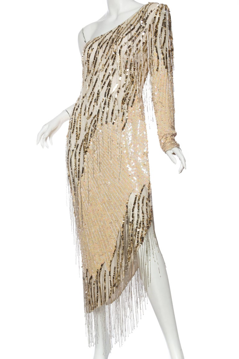 Bob Mackie Beaded Fringe Dress For Sale 1