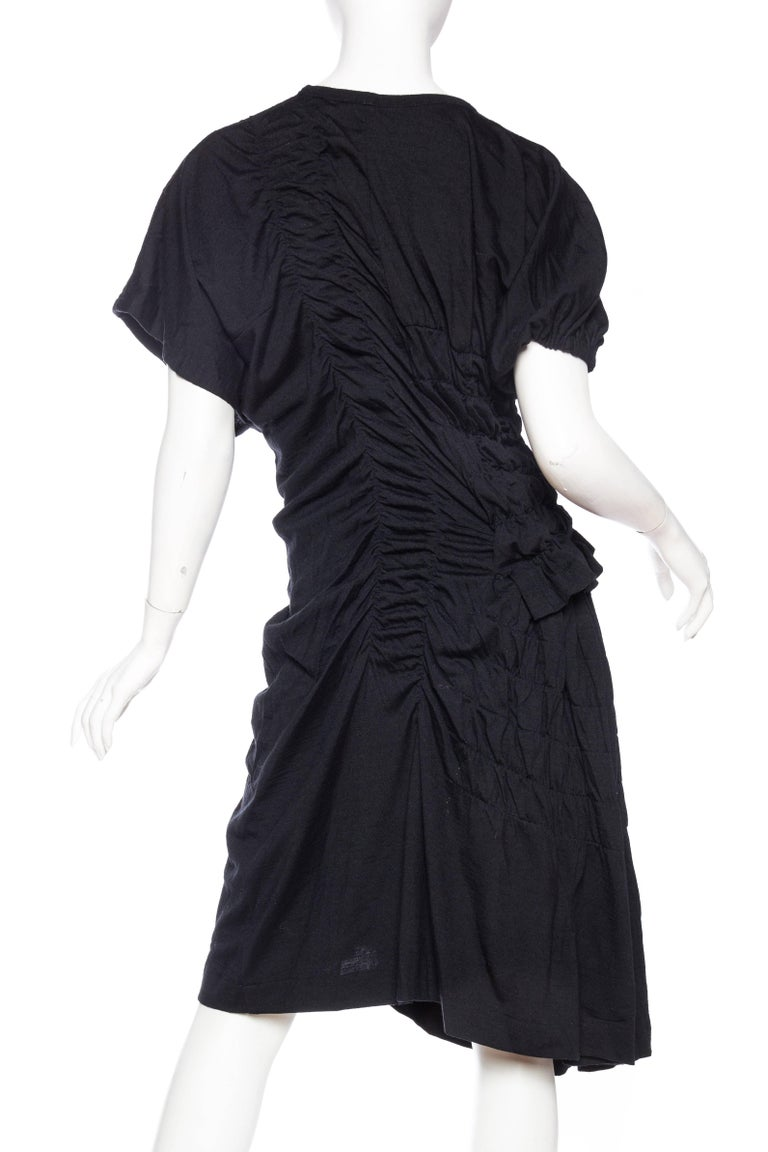 1980s Comme des Garcons Asymmetrically Draped Dress For Sale 1