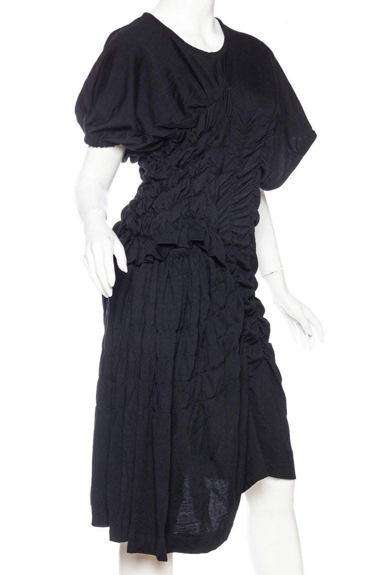 1980s Comme des Garcons Asymmetrically Draped Dress In Excellent Condition For Sale In New York, NY