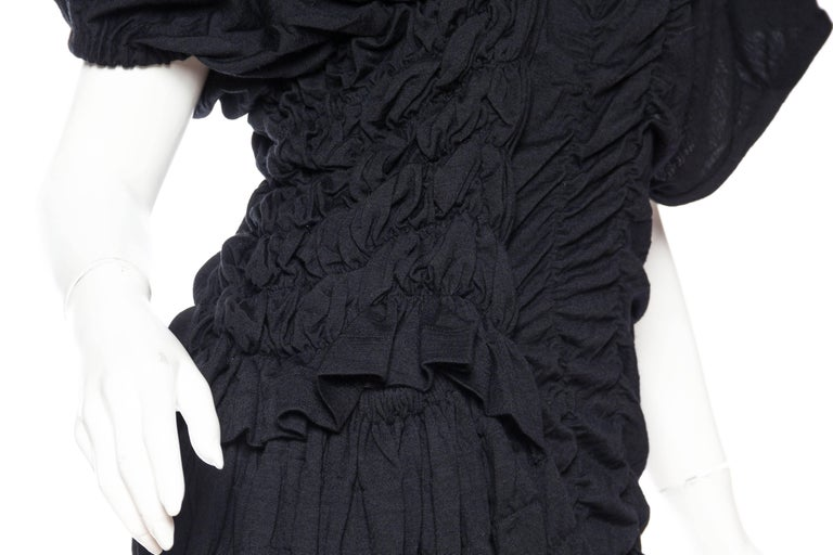 1980s Comme des Garcons Asymmetrically Draped Dress For Sale 3