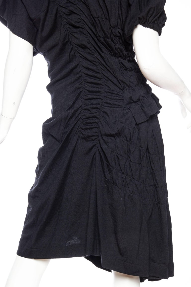 1980s Comme des Garcons Asymmetrically Draped Dress For Sale 4