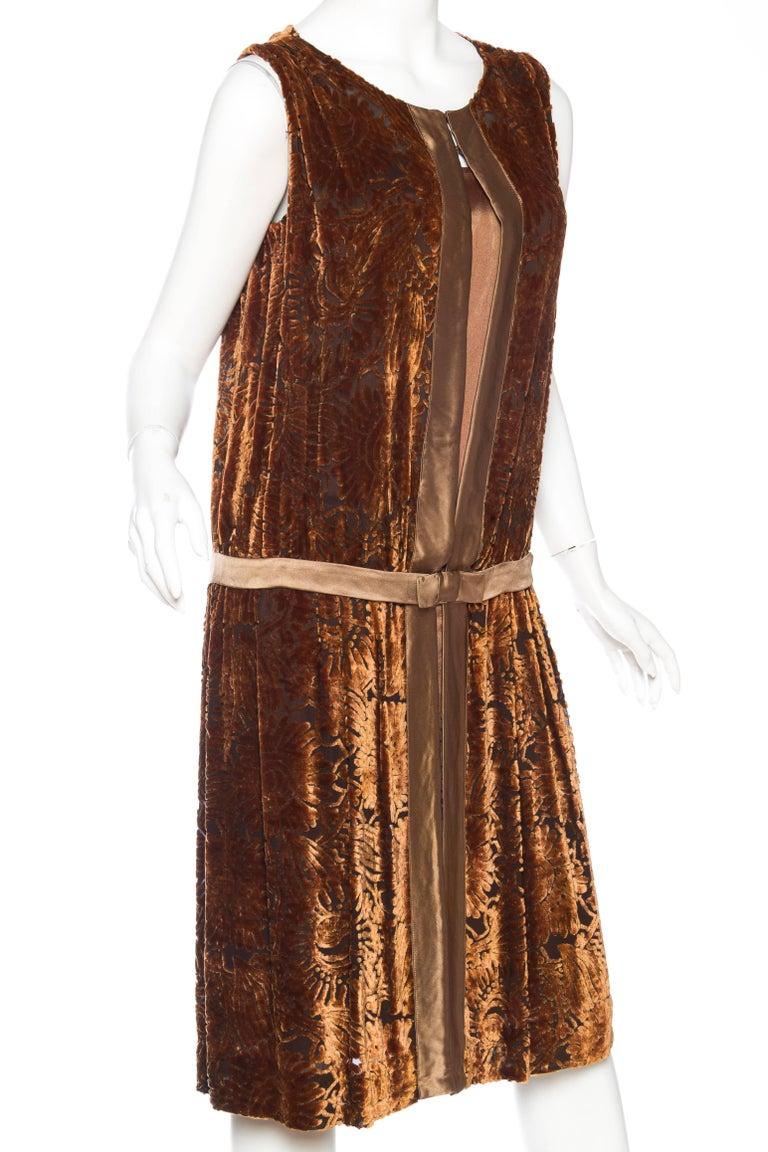 1920s Silk Burnout Velvet Dress For Sale At 1stdibs