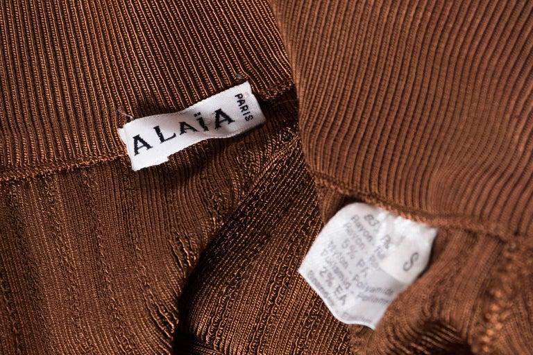 Alaia Dark Nude Body Suit For Sale 6