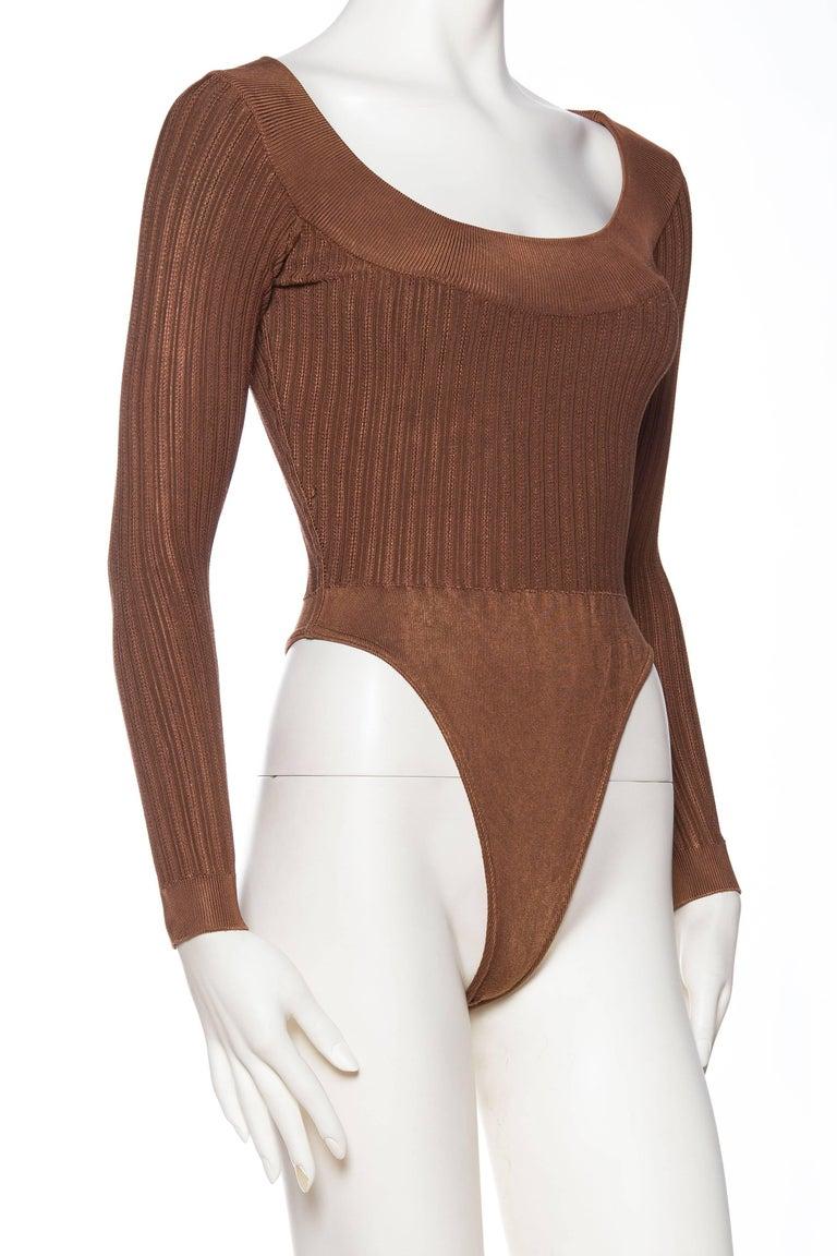 Women's Alaia Dark Nude Body Suit For Sale