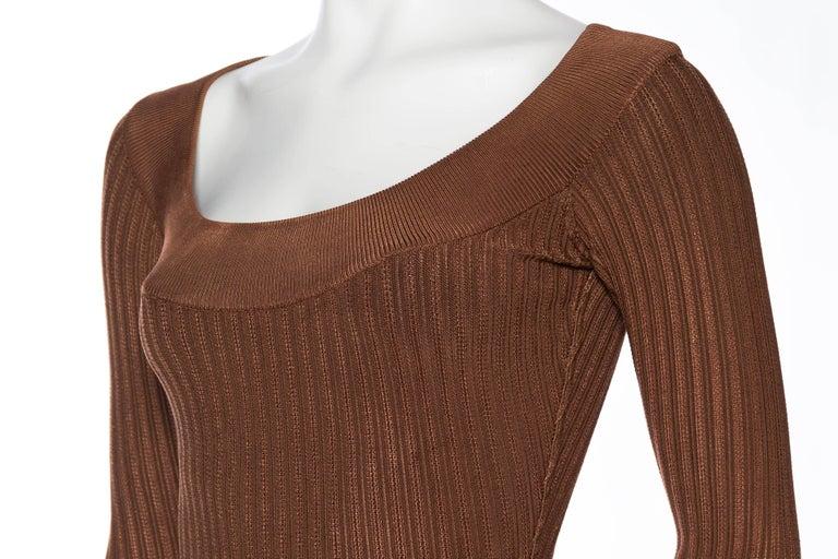 Alaia Dark Nude Body Suit For Sale 3