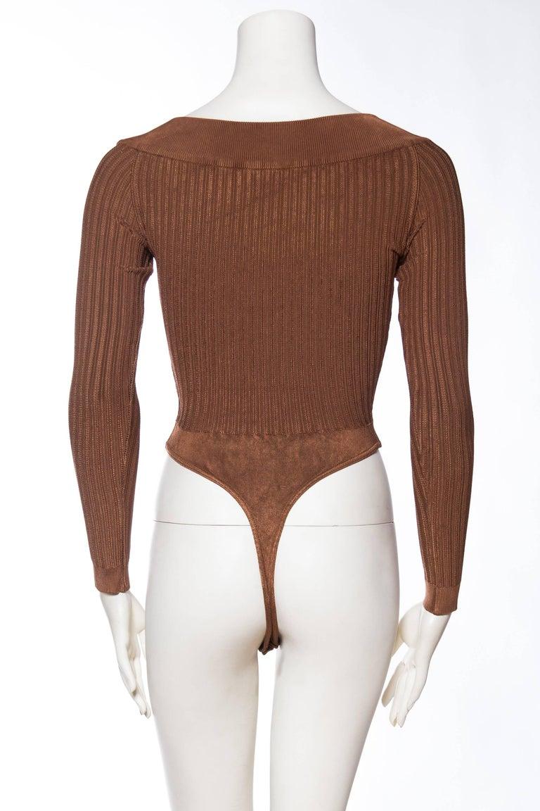Alaia Dark Nude Body Suit For Sale 2