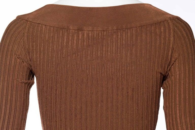 Alaia Dark Nude Body Suit For Sale 4