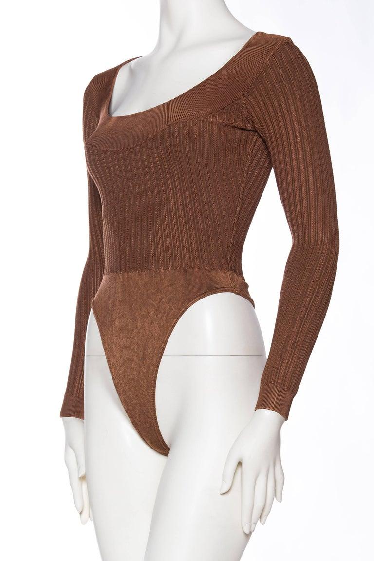 Alaia Dark Nude Body Suit For Sale 1