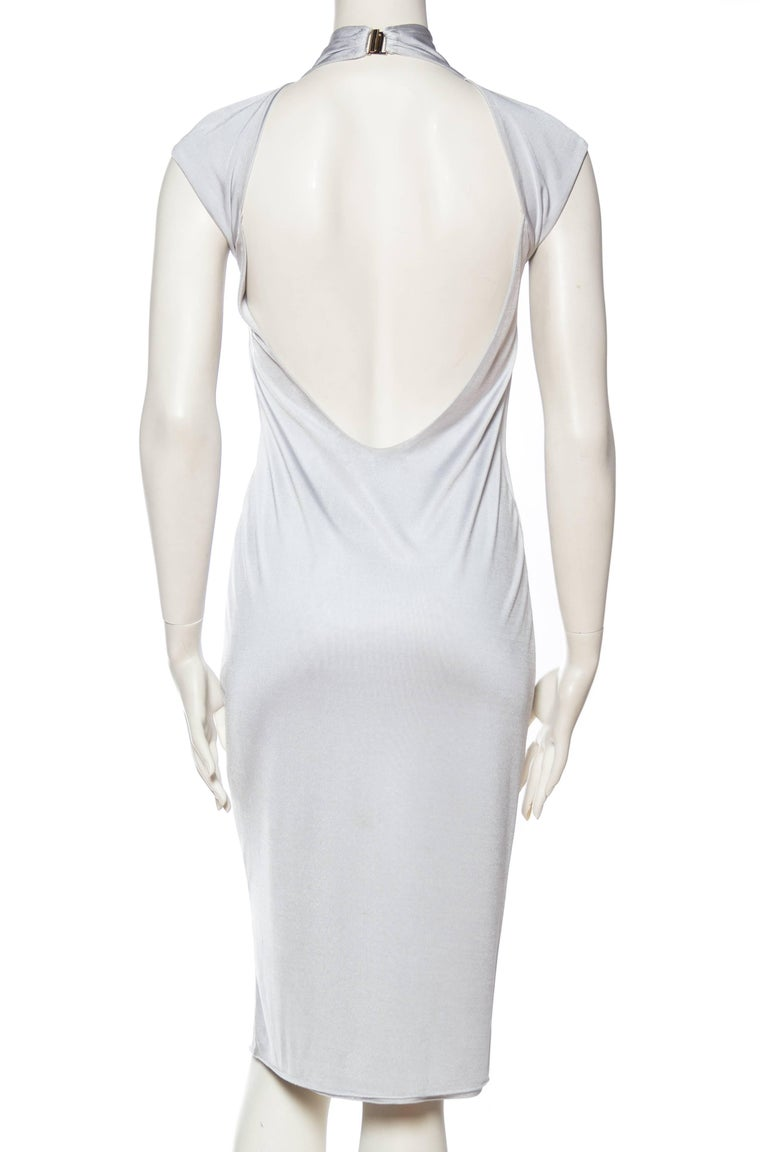 1990s Tom Ford Backless Jersey Dress For Sale 2