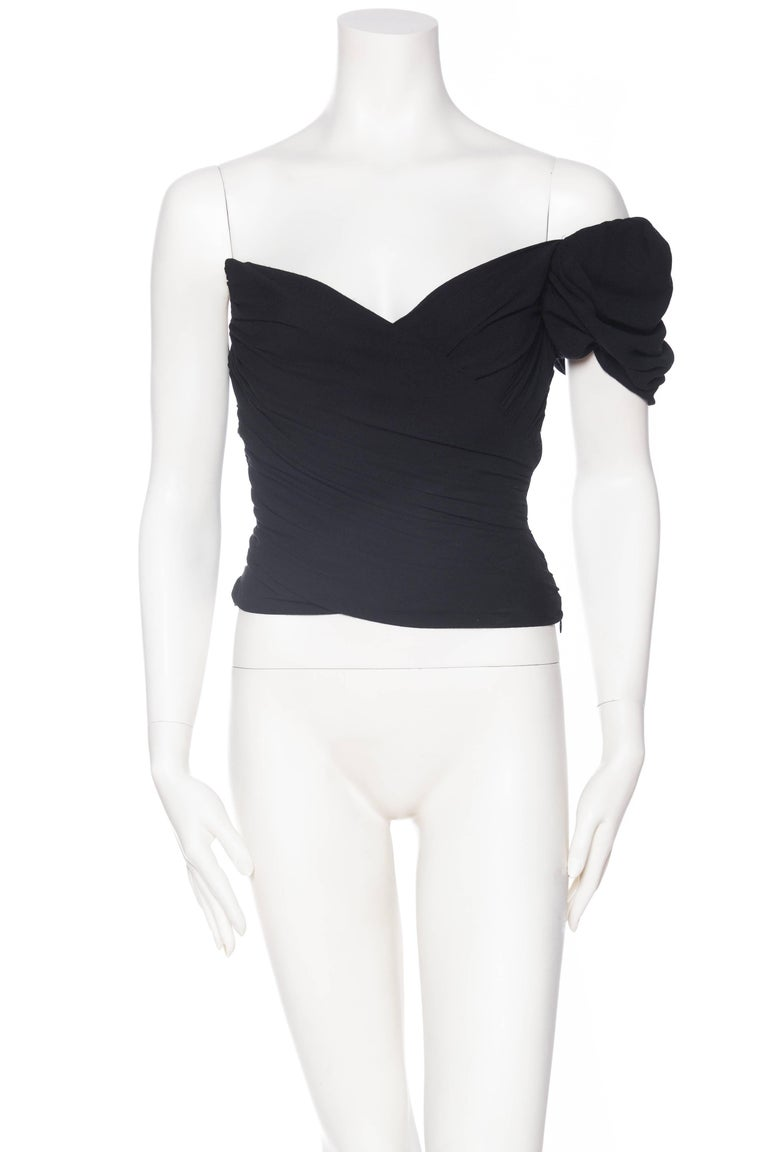 Black Vivienne Westwood Draped Corset Top For Sale