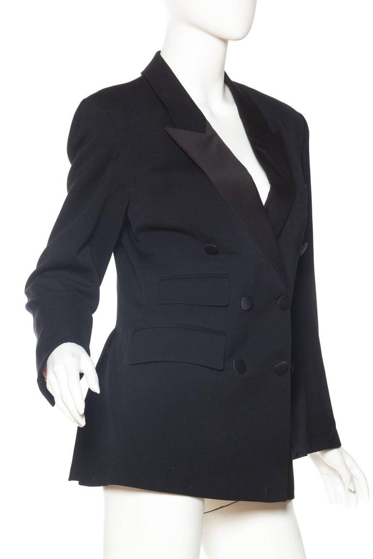Black Vivienne Westwood Gold Label Satin Lapel Tuxedo Jacket For Sale