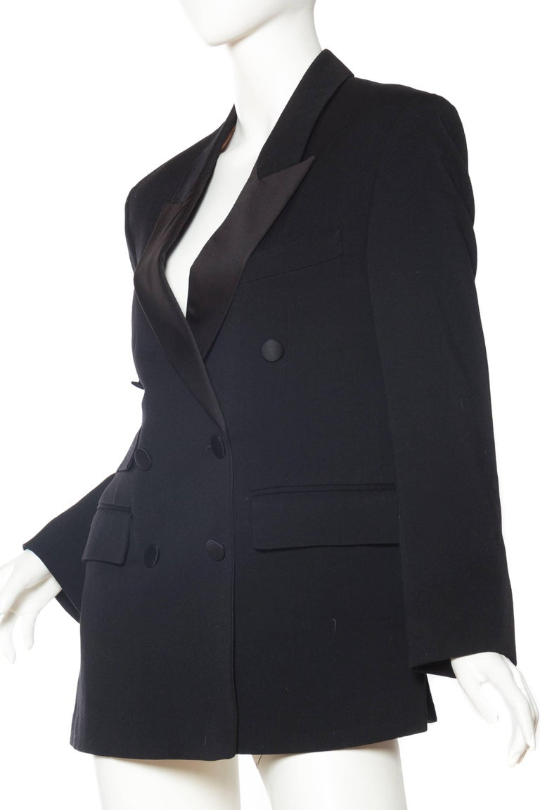 Vivienne Westwood Gold Label Satin Lapel Tuxedo Jacket In Excellent Condition For Sale In New York, NY