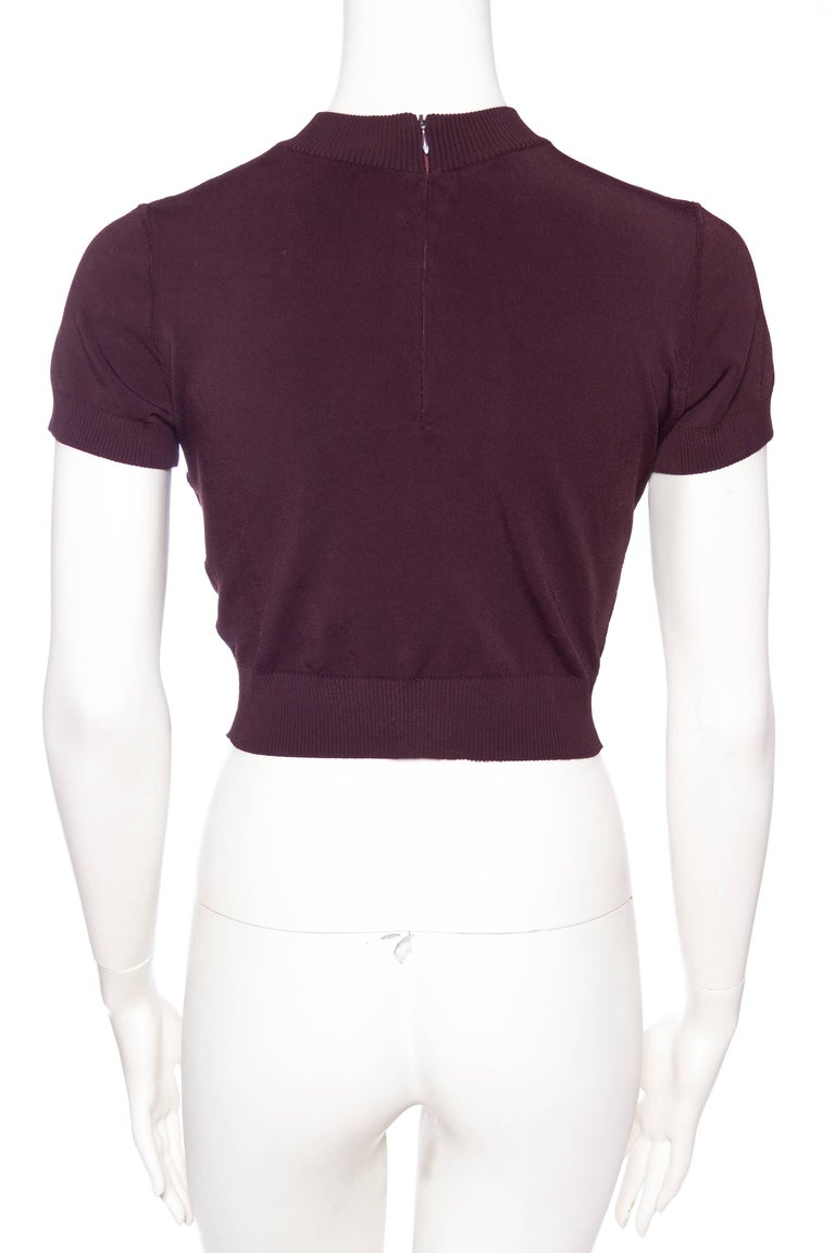Women's The Perfect 1990s Alaia Cropped T-Shirt For Sale