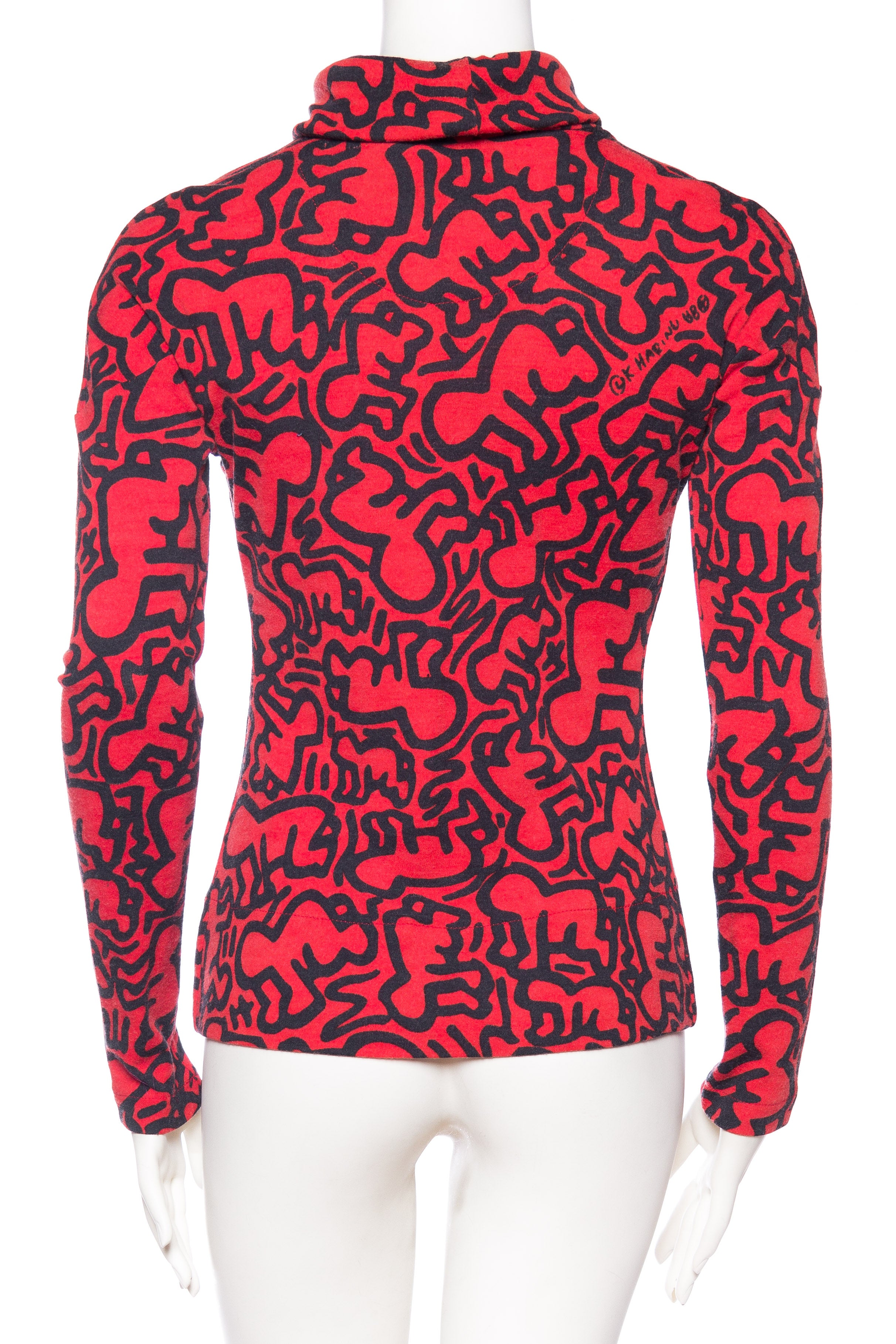 03130740cce 1980s Jean Charled de Castelbajac Keith Haring Radiant Baby Turtleneck  Sweater For Sale at 1stdibs