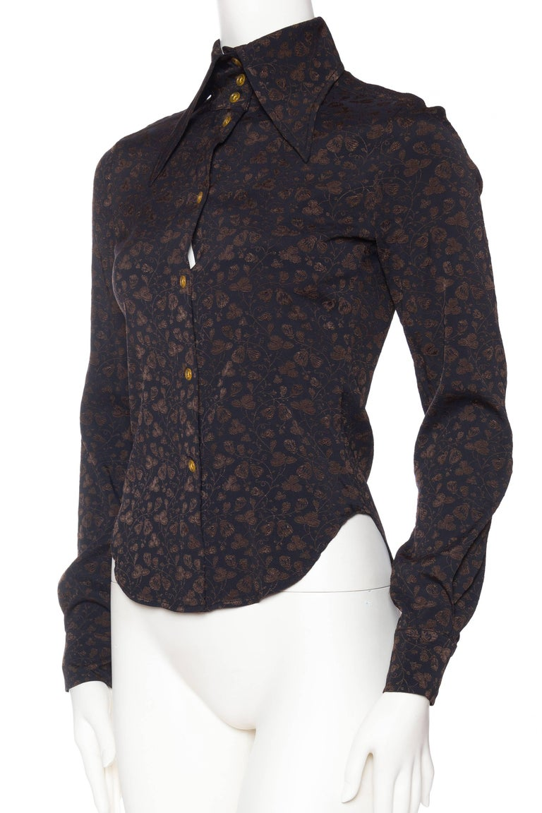 Vivenne Westwood Gold Label Floral Blouse In Excellent Condition For Sale In New York, NY