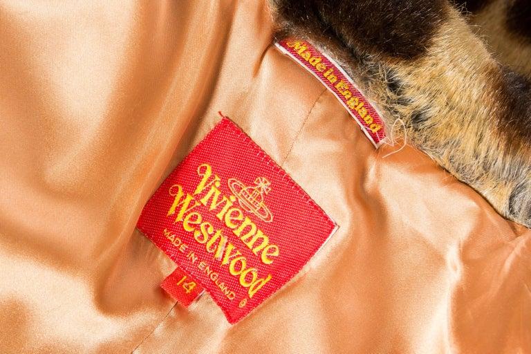 Vivienne Westwood Lush Faux Leopard Coat For Sale 5