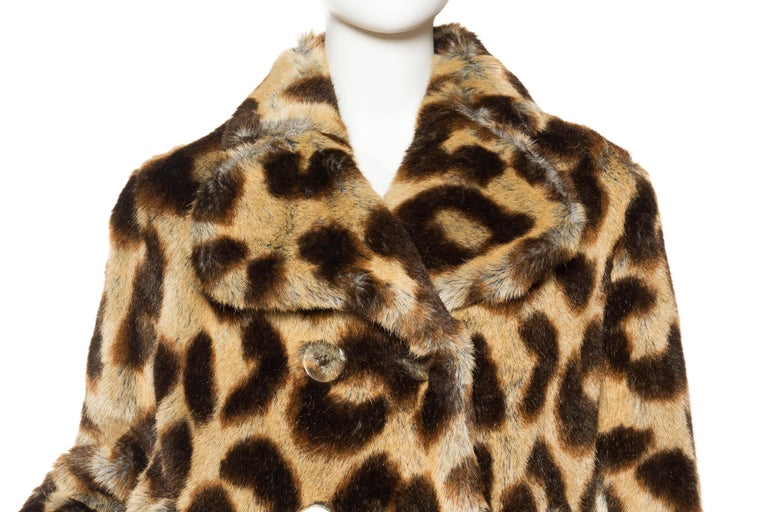 Vivienne Westwood Lush Faux Leopard Coat For Sale 1