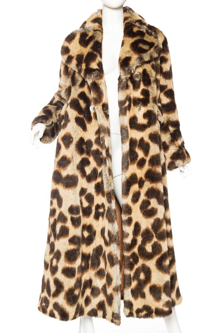 Vivienne Westwood Lush Faux Leopard Coat Tagged UK size 14 fits American size 4-6