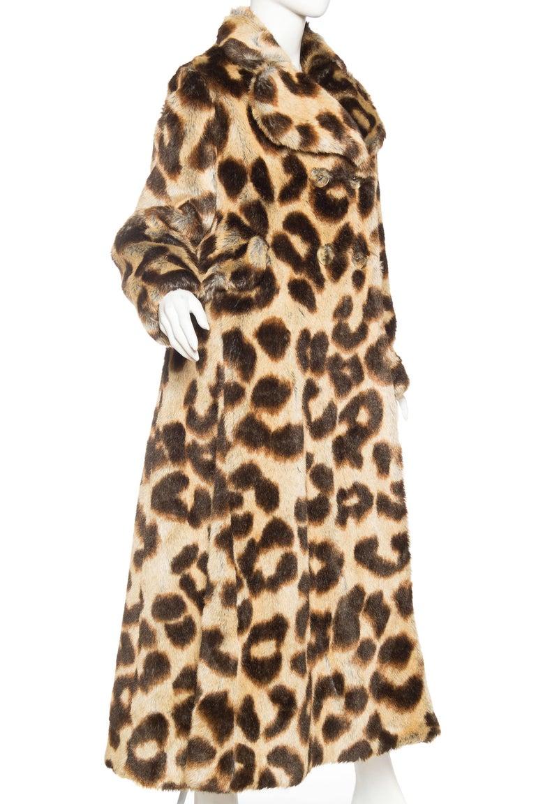 Brown Vivienne Westwood Lush Faux Leopard Coat For Sale