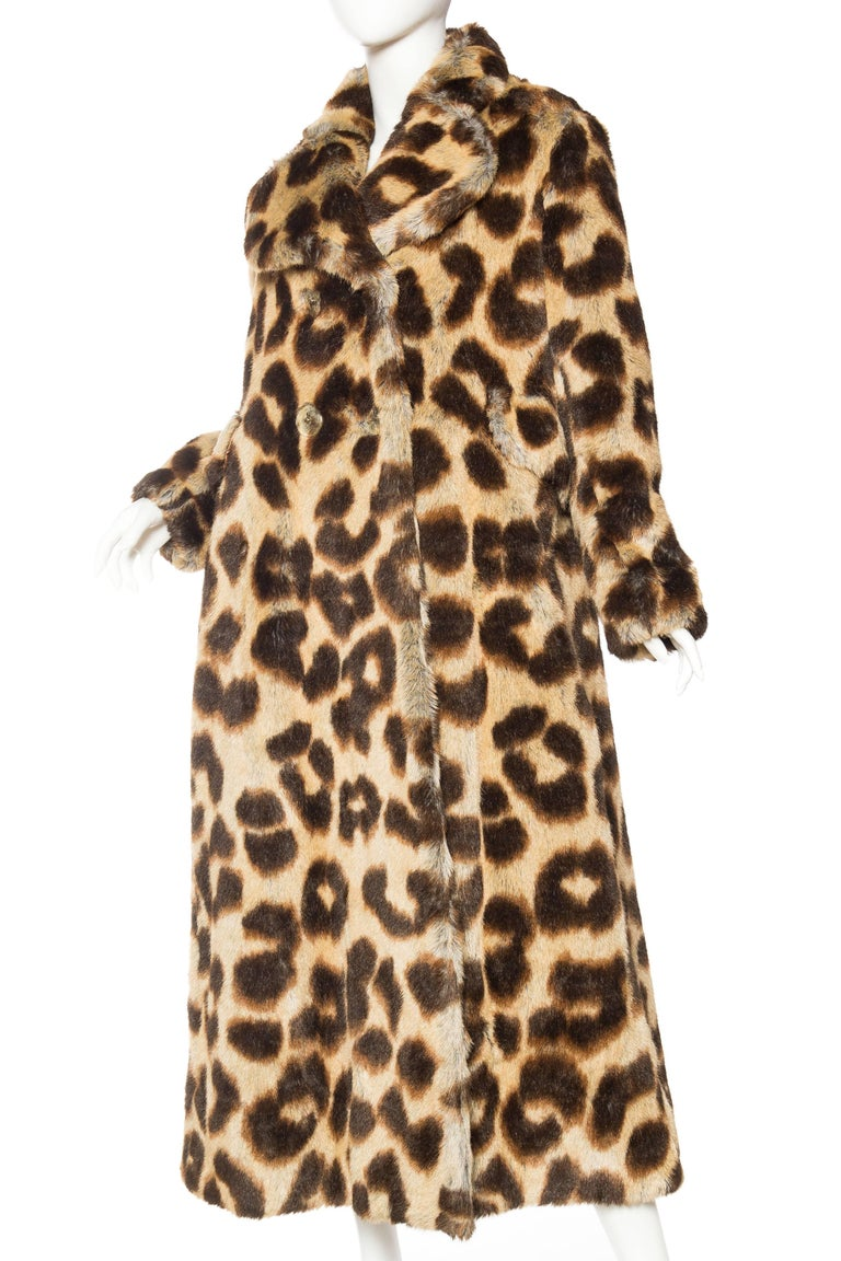 Vivienne Westwood Lush Faux Leopard Coat In Excellent Condition For Sale In New York, NY