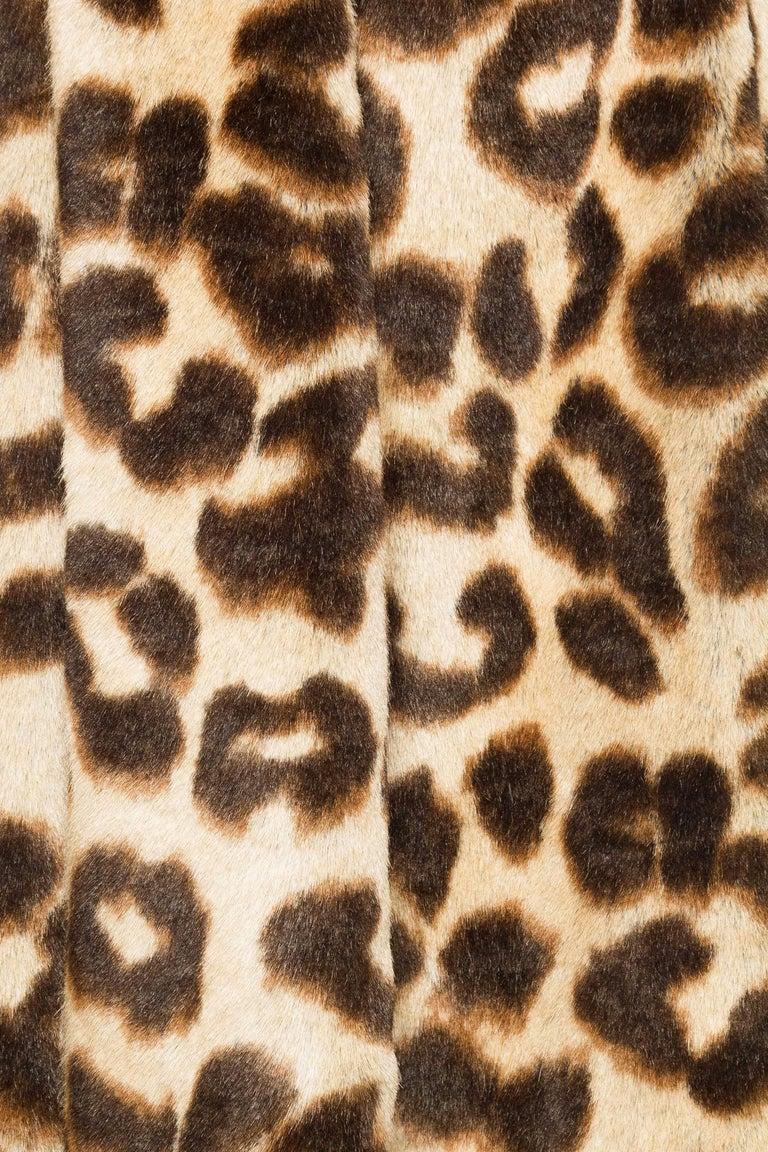 Vivienne Westwood Lush Faux Leopard Coat For Sale 3