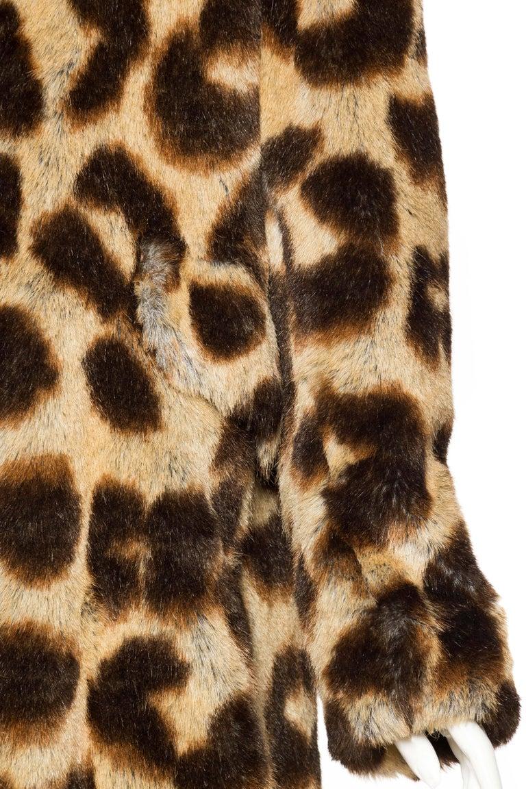 Vivienne Westwood Lush Faux Leopard Coat For Sale 2