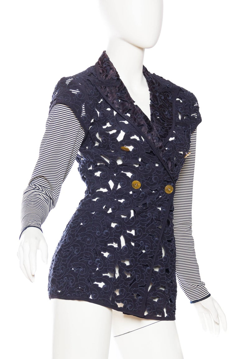 Jean Paul Gaultier Cut-Out Lace Jacket With Nautical -2887