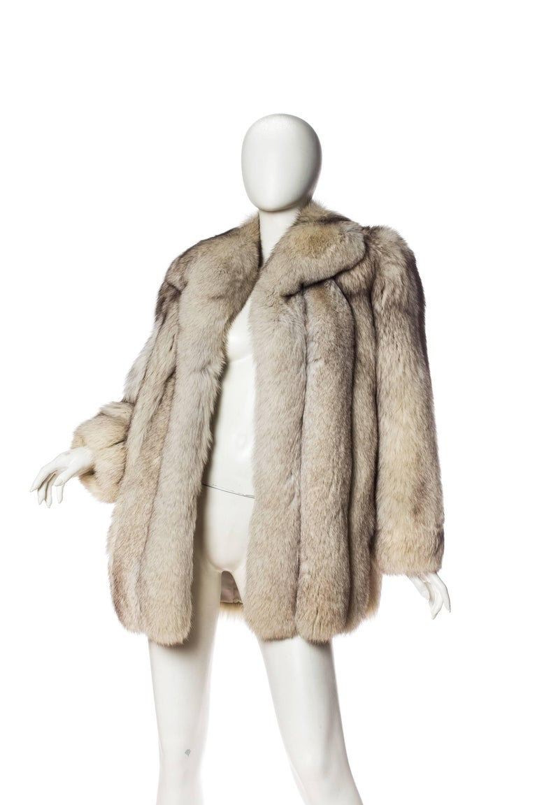 1980S Silver Fox Fur Coat For Sale 2