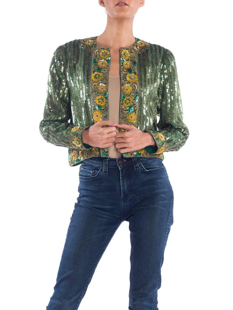Women's Richilene Hand Beaded Silk Jacket    For Sale