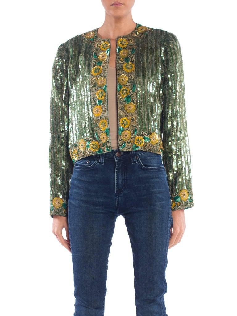 Richilene Hand Beaded Silk Jacket    For Sale 5