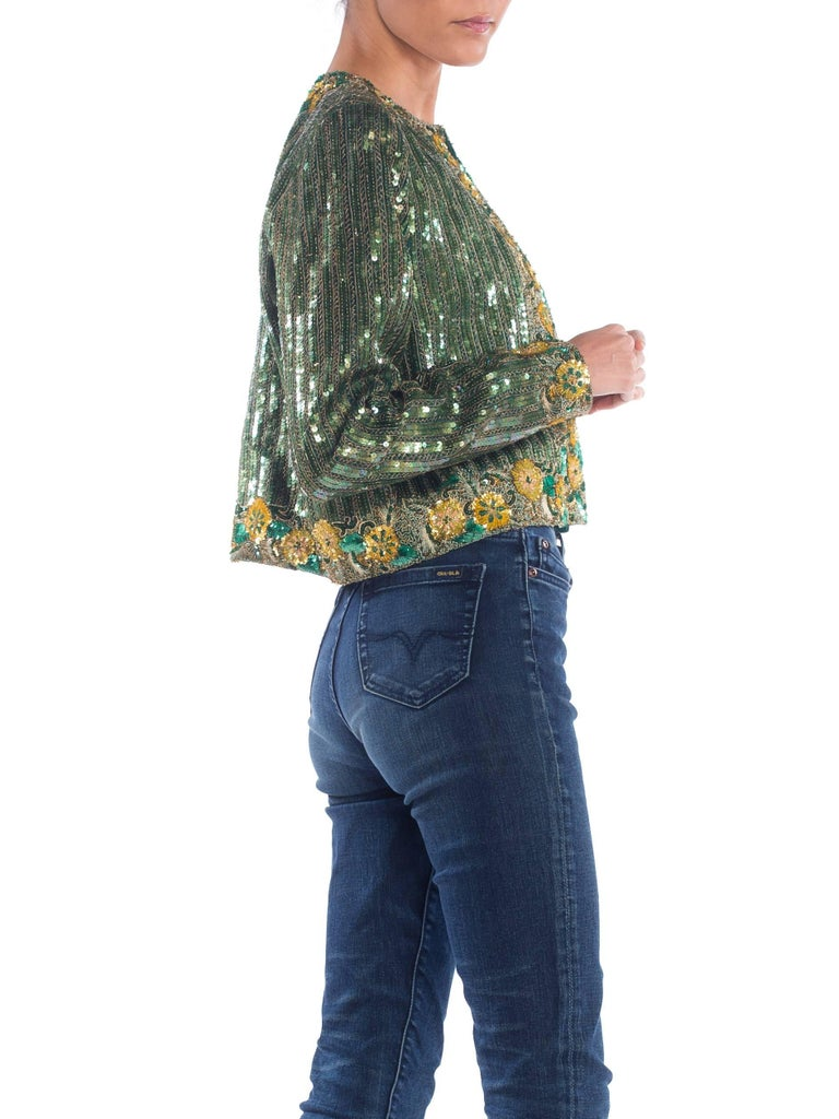 Richilene Hand Beaded Silk Jacket    In Excellent Condition For Sale In New York, NY