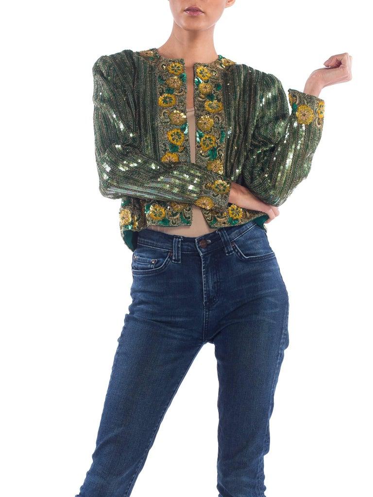 Richilene Hand Beaded Silk Jacket    For Sale 1