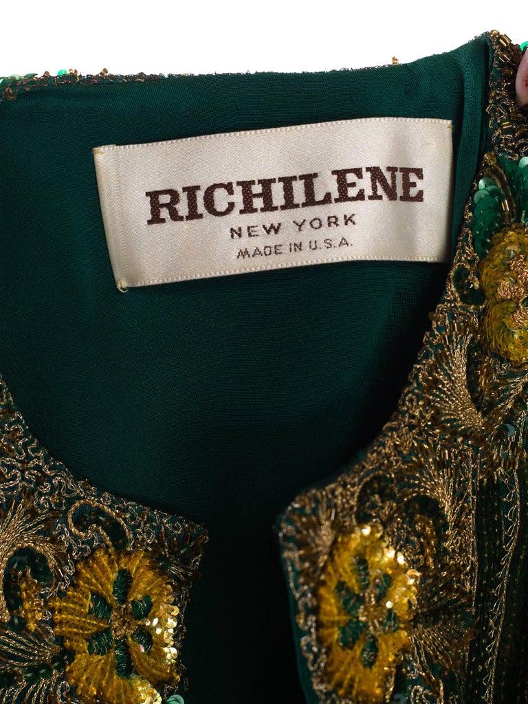Richilene Hand Beaded Silk Jacket    For Sale 4