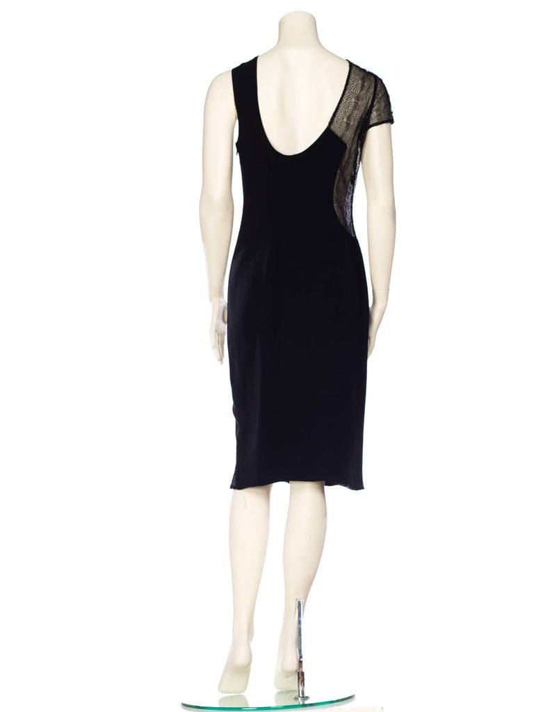 1990s Gianni Versace Couture Sheer Lace Dress For Sale 1