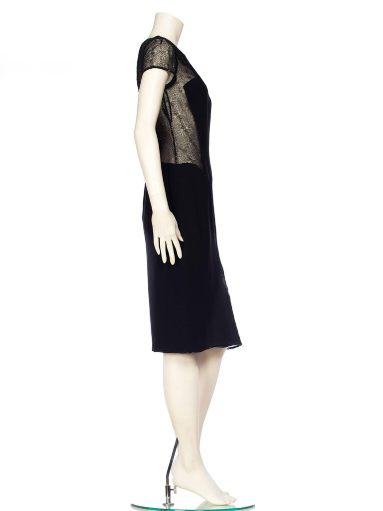 1990s Gianni Versace Couture Sheer Lace Dress For Sale 3