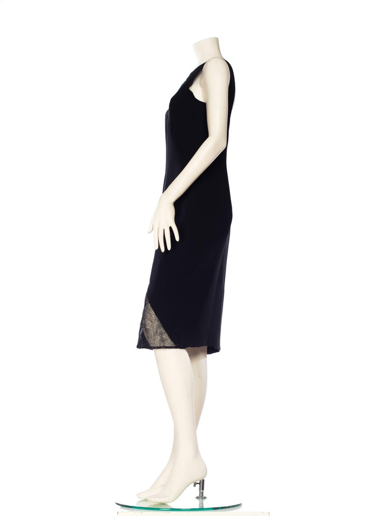 Women's 1990s Gianni Versace Couture Sheer Lace Dress For Sale