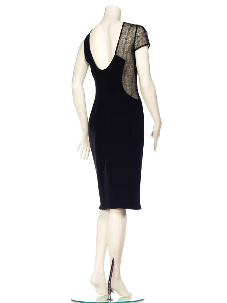 1990s Gianni Versace Couture Sheer Lace Dress For Sale 2