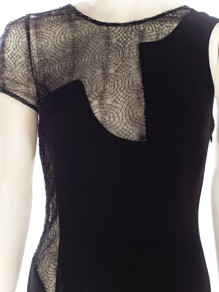1990s Gianni Versace Couture Sheer Lace Dress For Sale 5