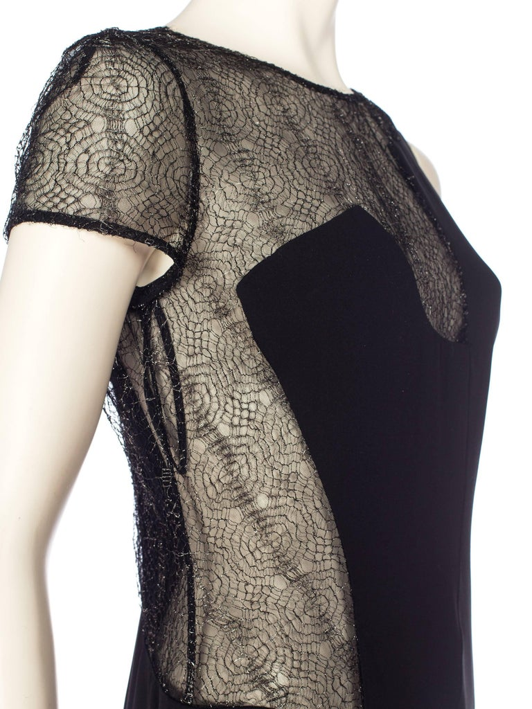 1990s Gianni Versace Couture Sheer Lace Dress For Sale 4