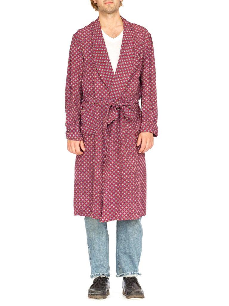 c0b1dd02f 1940s Mens Rayon Robe Smoking Jacket