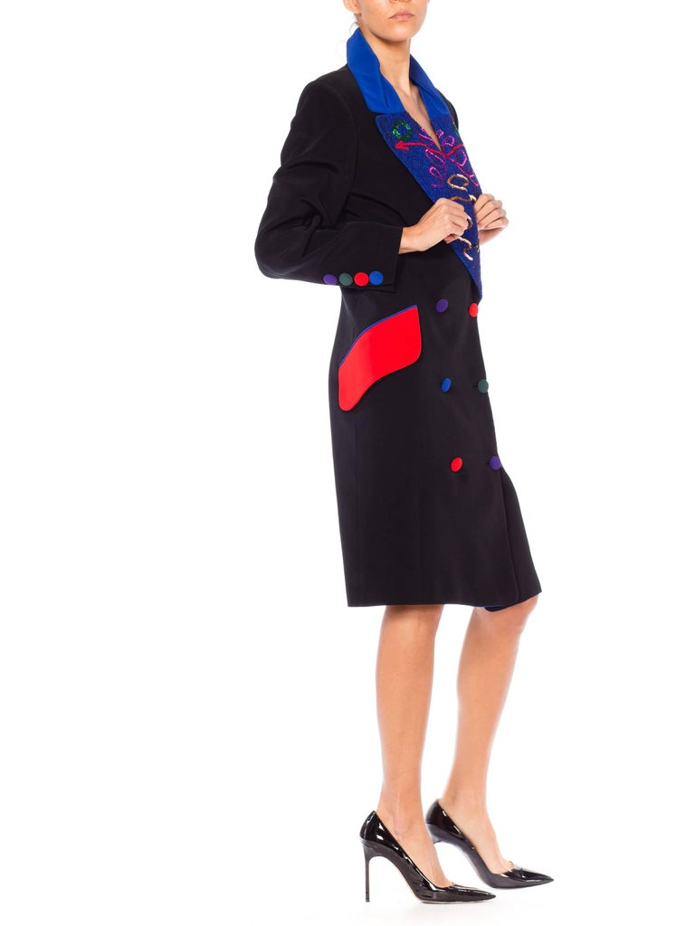 Fabrice Beaded Blazer Working Girl Dress, 1980s  For Sale 2