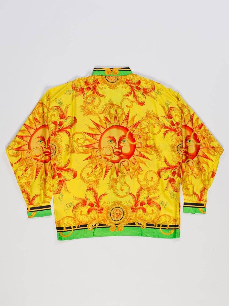 c5be5950d Women's or Men's Versace Yellow Baroque Sun Silk Shirt ...