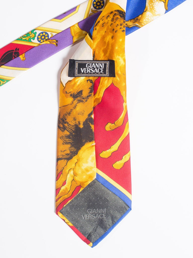 1990s Gianni Versace Mens Silk Tie