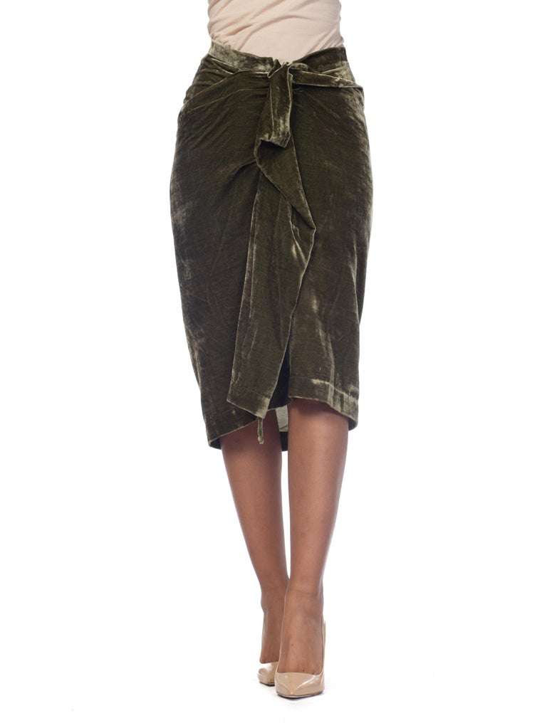 5362faa07 Vivienne Westwood Anglomania Draped Velvet Skirt For Sale at 1stdibs
