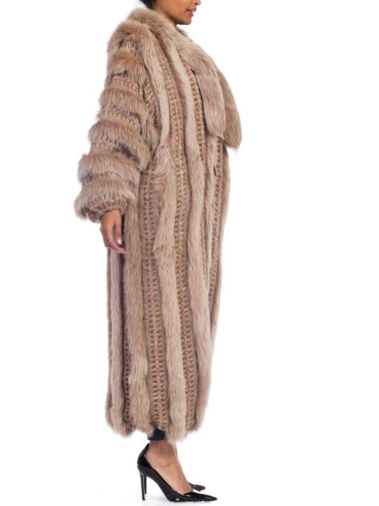 Wild Oversized Fox Fur & Knit Coat For Sale 1