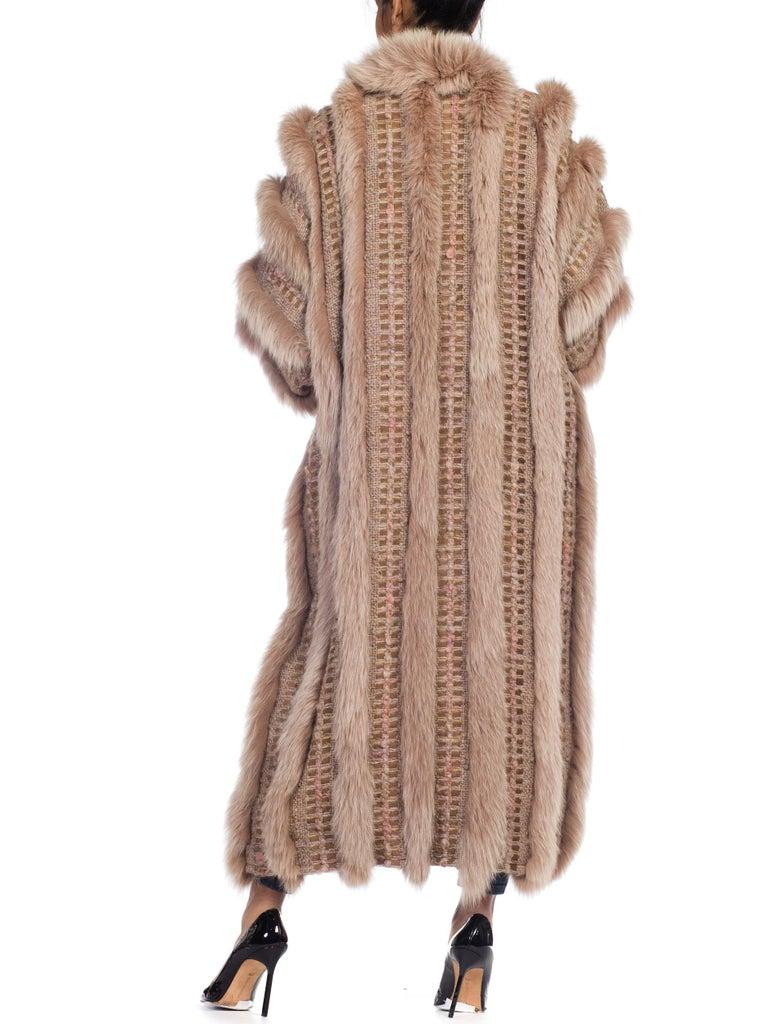 Wild Oversized Fox Fur & Knit Coat For Sale 2