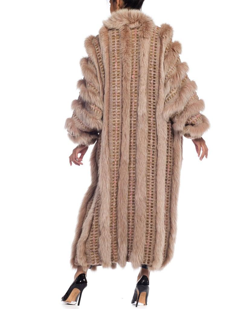 Wild Oversized Fox Fur & Knit Coat For Sale 3