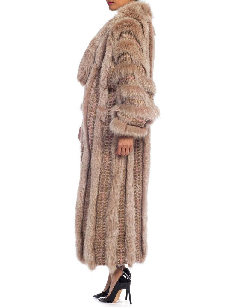 Wild Oversized Fox Fur & Knit Coat For Sale 4
